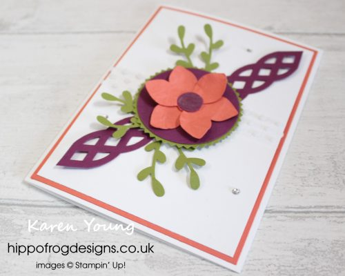 Floral and Punches. Project designed by Karen at HIPPOFROG Designs