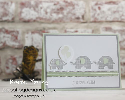 Lovely Little Elephant. Project designed by Karen at HIPPOFROG Designs
