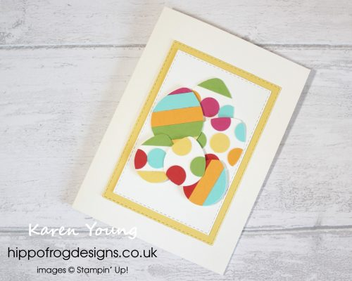 Punch Art Easter Egg Card. Project designed by Karen at HIPPOFROG Designs