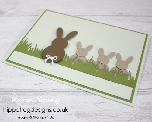 Punch Art Bunnies. Project designed by Karen at HIPPOFROG Designs