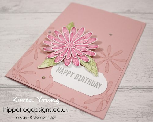 Pink and Sparkly Daisies. Project designed by Karen at HIPPOFROG Designs