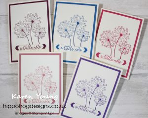 Sharing Dandelion Wishes. Project designed by Karen at HIPPOFROG Designs