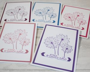 Sharing Dandelion Wishes. Project designed by Karen at HIPPOFROG Designs