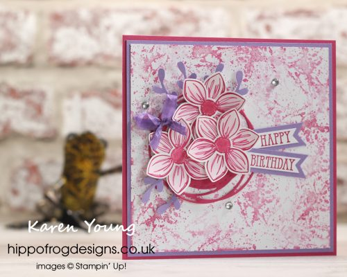 Floral Essence for a Special Birthday. Project Designed by Karen at HIPPOFROG Designs