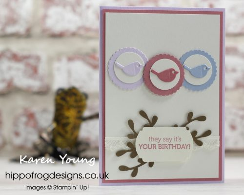 Mystery Pack - Three Little Birds. Project designed by Karen at HIPPOFROG Designs