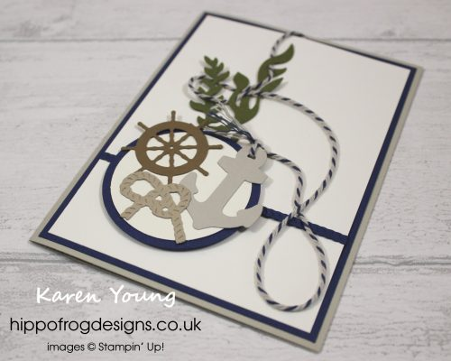 Smooth Sailing Dies. Project designed by Karen at HIPPOFROG Designs