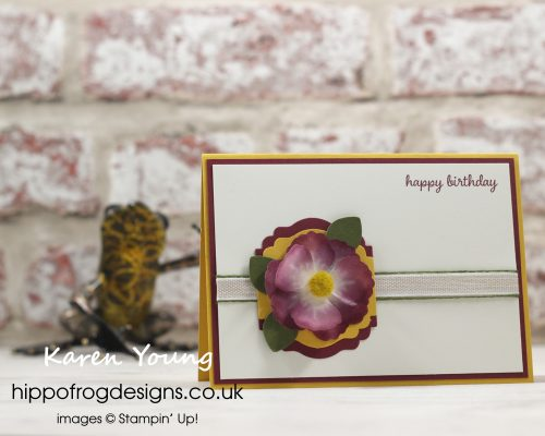 Pretty Petal Washi Tape. Project designed by Karen at HIPPOFROG Designs