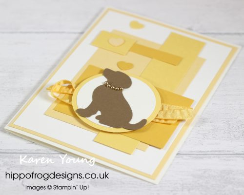 Raining Hearts & Dogs. Project designed by Karen at HIPPOFROG Designs