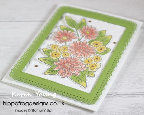 Another Ornate Garden Suite Card. Project designed by Karen at HIPPOFROG Designs