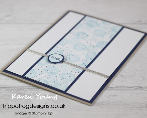 Going dotty with with Waterfront Stamp Set. Project designed by Karen at HIPPOFROG Designs