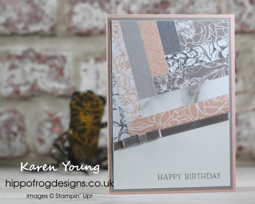 Parquet with Peony Gardens DSP. Project designed by Karen at HIPPOFROG Designs