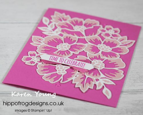 Magenta Madness with Many Blossoms. Project designed by Karen at HIPPOFROG Designs