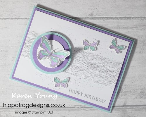 Purple & Blue Birthday Butterflies. Project designed by Karen at HIPPOFROG Designs