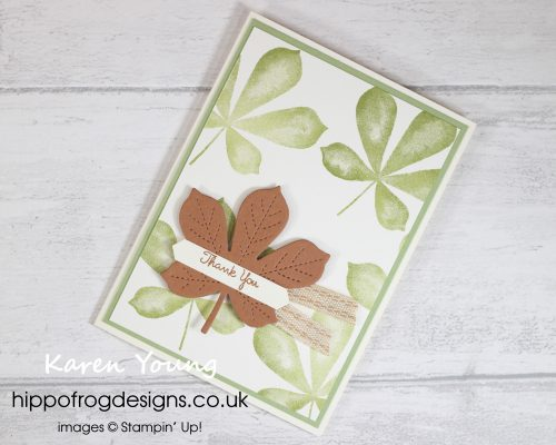 Love of Leaves. Project designed by Karen at HIPPOFROG Designs