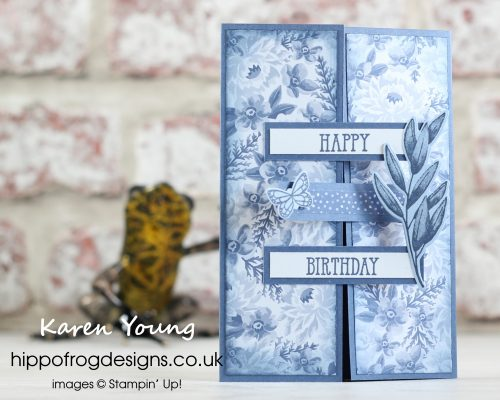 Crossover Gatefold Card. Handmade by Karen at HIPPOFROG Designs