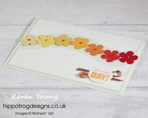 Yellow, Orange and Red Small Blooms. Project designed by Karen at HIPPOFROG Designs