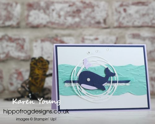 Whale Meet Again. Project designed by Karen at HIPPOFROG Designs