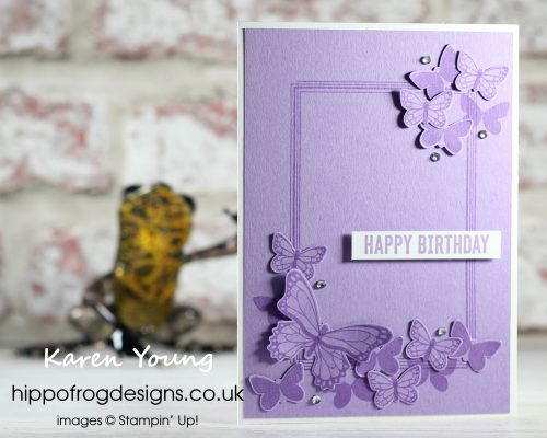 Highland Heather Birthday Butterflies. Project designed by Karen at HIPPOFROG Designs