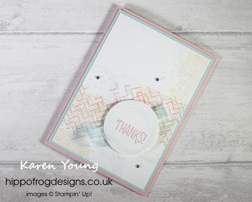 Customer Thank You Cards using Comfort & Hope. Project designed by Karen at HIPPOFROG Designs