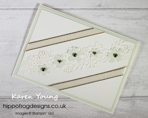 Ornate Borders Dies. Project designed by Karen at HIPPOFROG Designs