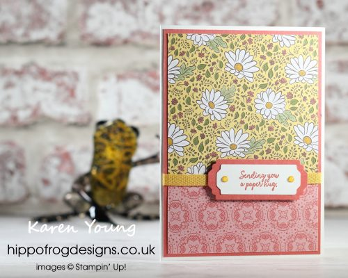 Sending you a Paper Hug. Project designed by Karen at HIPPOFROG Designs