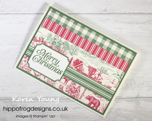 Countdown to Christmas #1. Project designed by Karen at HIPPOFROG Designs