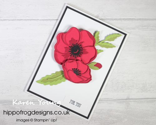 Poppy Moments Dies. Project designed by Karen at HIPPOFROG Designs