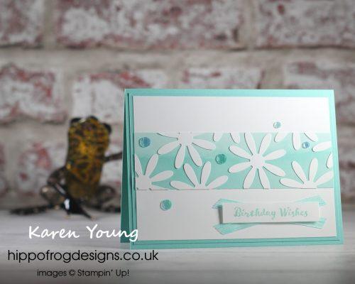 Fabulous Florals on World Cardmaking Day. Project designed by Karen at HIPPOFROG Designs