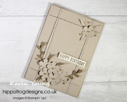 Small Blooms in Sepia Tones. Project designed by Karen at HIPPOFROG Designs