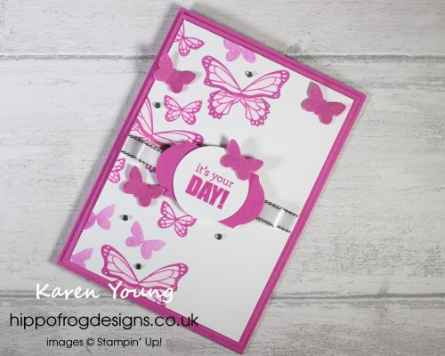 Magenta Madness Birthday Butterflies. Project designed by Karen at HIPPOFROG Designs