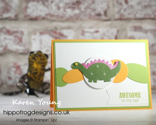 Dinosaur Fun. Project designed by Karen at HIPPOFROG Designs