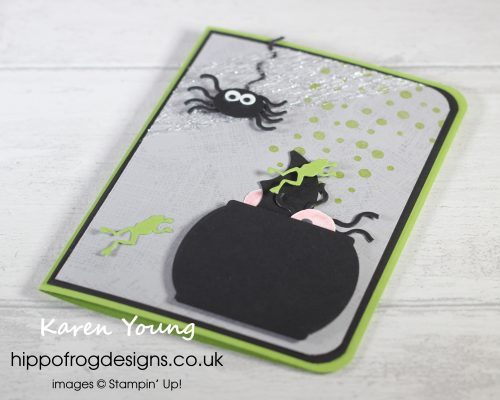 And Cauldron Bubble... Halloween Card. Project designed by Karen at HIPPOFROG Designs