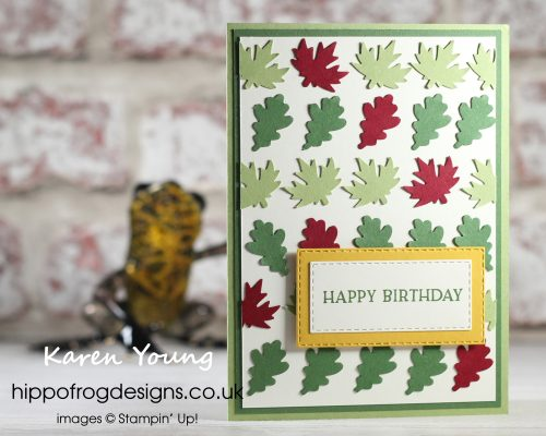 Autumn Leaves. Project designed by Karen at HIPPOFROG Designs