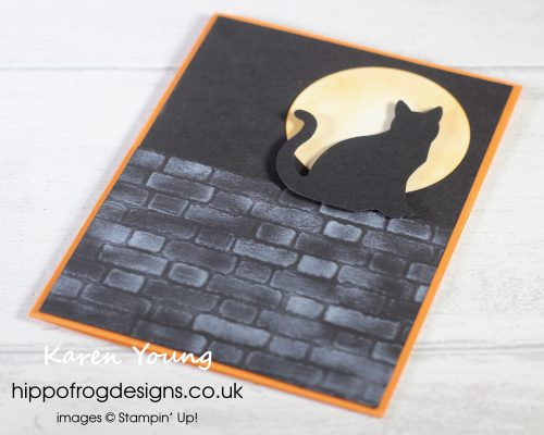 Meowing at the Moon. Project designed by Karen at HIPPOFROG Designs
