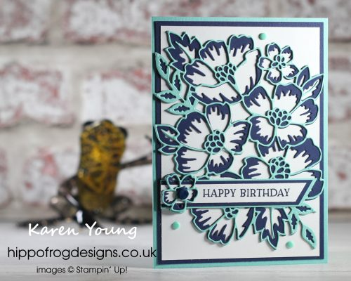 Blossoms in Bloom Bundle in Blues. Project designed by Karen at HIPPOFROG Designs