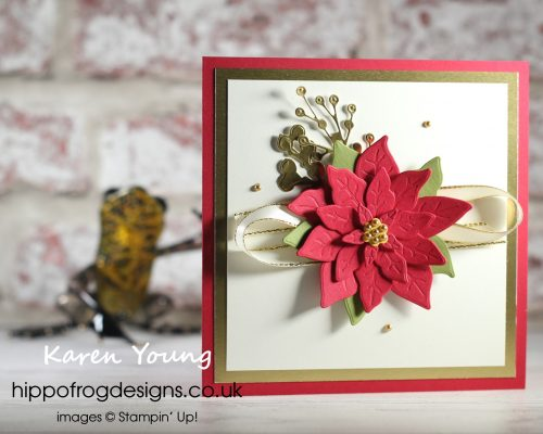Poinsettial Dies. Project designed by Karen at HIPPOFROG Designs