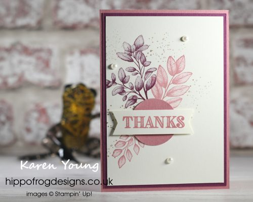 Forever Fern to Say Thank You. Project designed by Karen at HIPPOFROG Designs