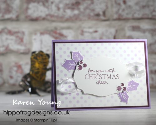 Countdown to Christmas #9. Project designed by Karen at HIPPOFROG Designs