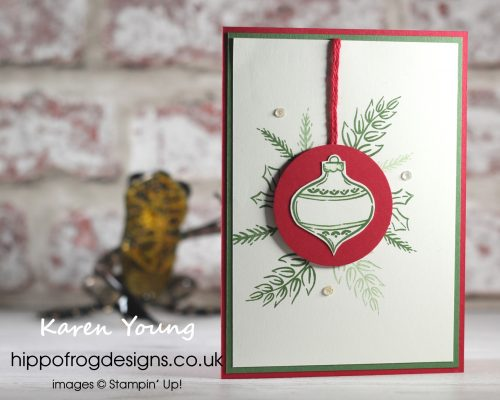 Countdown to Christmas #8. Project designed by Karen at HIPPOFROG Designs