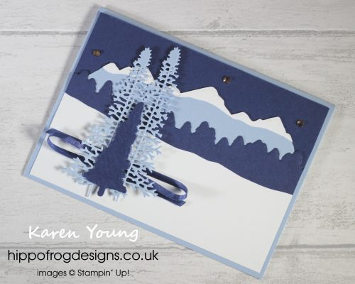 Majestic Mountain Dies to Create a Winter Scene. Project designed by Karen at HIPPOFROG Designs