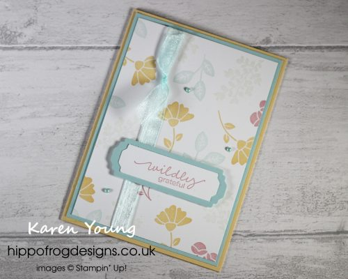 Lovely You for my Lovely Customers. Project designed by Karen at HIPPOFROG Designs