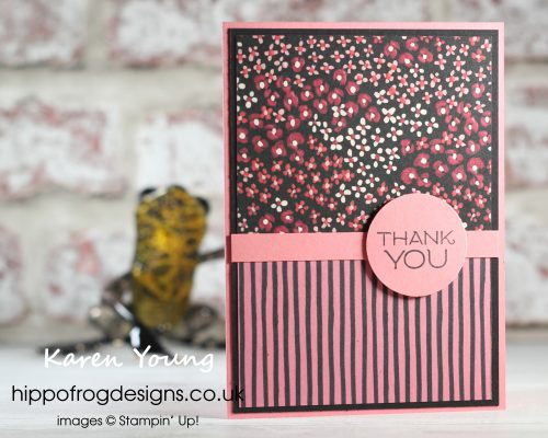 Customer Thank You Cards using FREE SAB DSP. Project designed by Karen at HIPPOFROG Designs