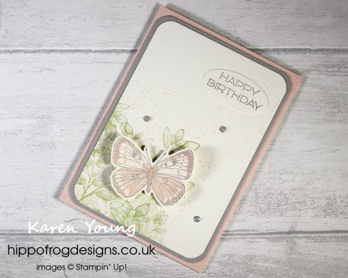 Butterfly Brilliance Bundle Birthday. Project designed by Karen at HIPPOFROG Designs