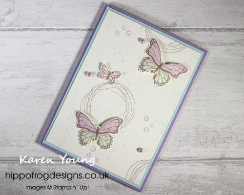 Comfort & Hope and Butterflies. Project designed by Karen at HIPPOFROG Designs