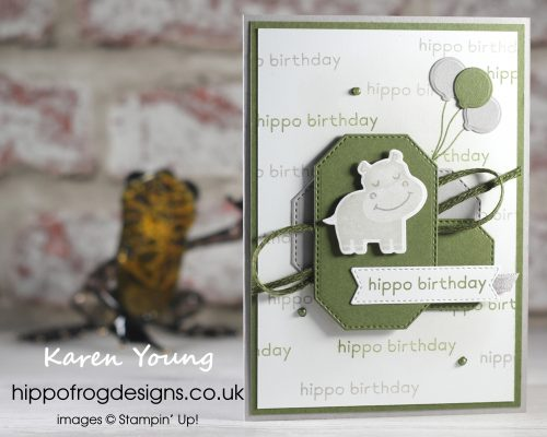 Hippo Birthday. Project designed by Karen at HIPPOFROG Designs
