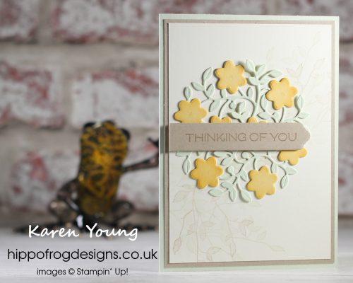 Vine Design Bundle Sympathy Card. Project designed by Karen at HIPPOFROG Designs