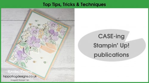 Top Tips, Tricks & Techniques: CASE-ing Stampin' Up! publications