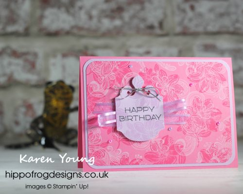 An Elegantly Said In Color Happy Birthday. Project designed by Karen at HIPPOFROG Designs