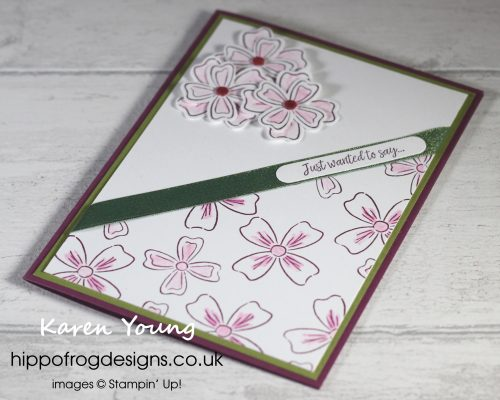 Flowers of Friendship in Rich Razzleberry. Project designed by Karen at HIPPOFROG Designs