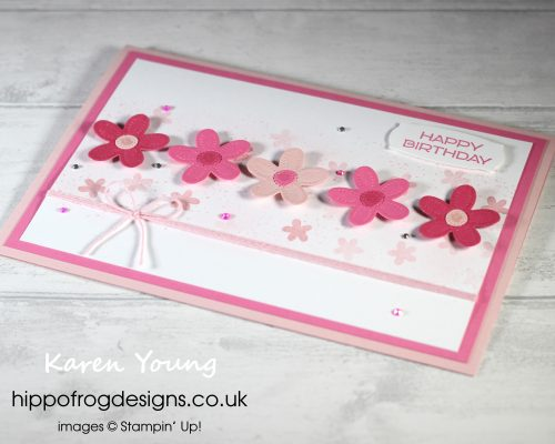 Plenty of Pinks for a 40th Birthday. Project designed by Karen at HIPPOFROG Designs